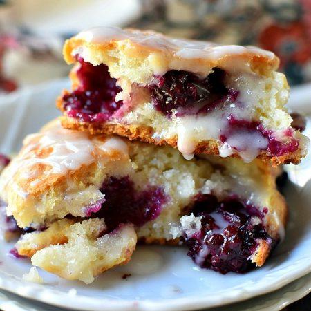 Blackberry & Cream Biscuits - only 4 ingredients!!!