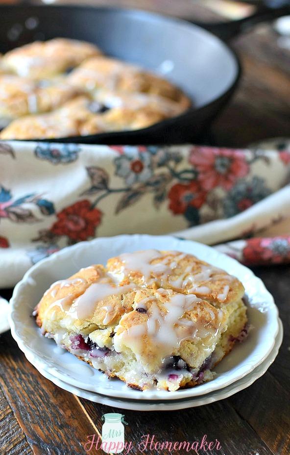Blackberry & Cream Biscuits