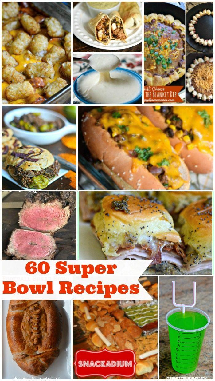 60 Super Bowl Recipes collage