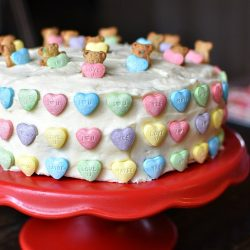 Easy Teddy Graham Valentine's Cake