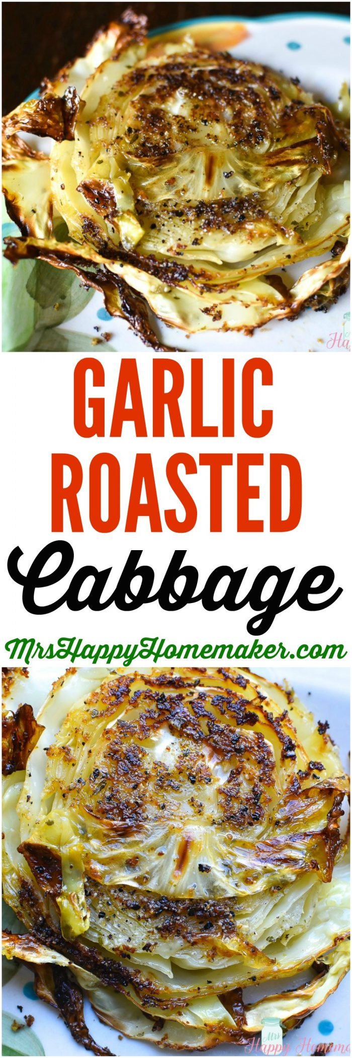 garlic roasted cabbage