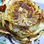 GARLIC ROASTED CABBAGE | MrsHappyHomemaker.com