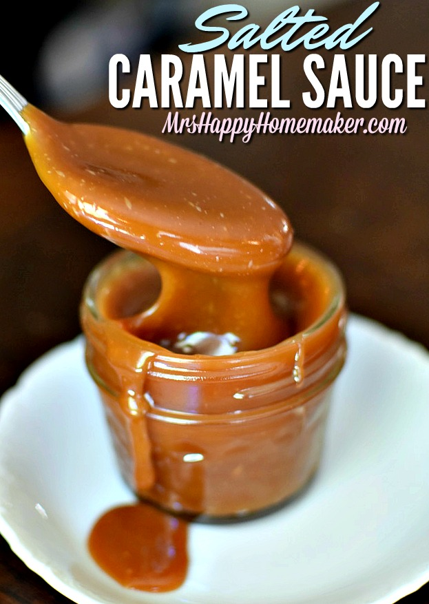 Salted Caramel Sauce | MrsHappyHomemaker.com