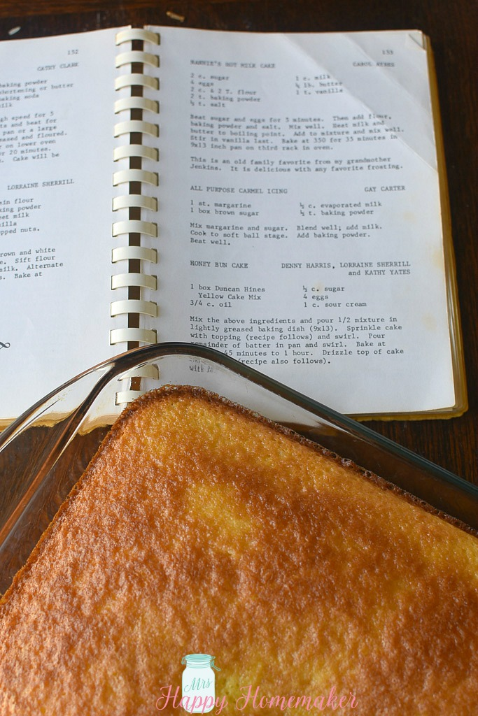 cake and a cookbook
