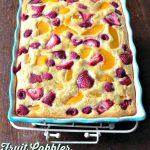 Fruit Cobbler Baked Oatmeal | MrsHappyHomemaker.com @mrshappyhomemaker