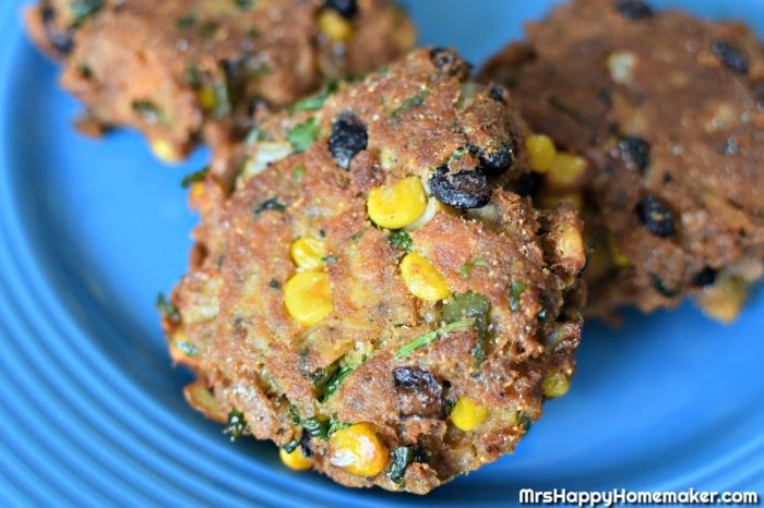 Mexican Salmon Patties - this is my grandmother's recipe for salmon patties that I jazzed up with some ingredients like black beans, corn, jalapenos, & taco seasoning