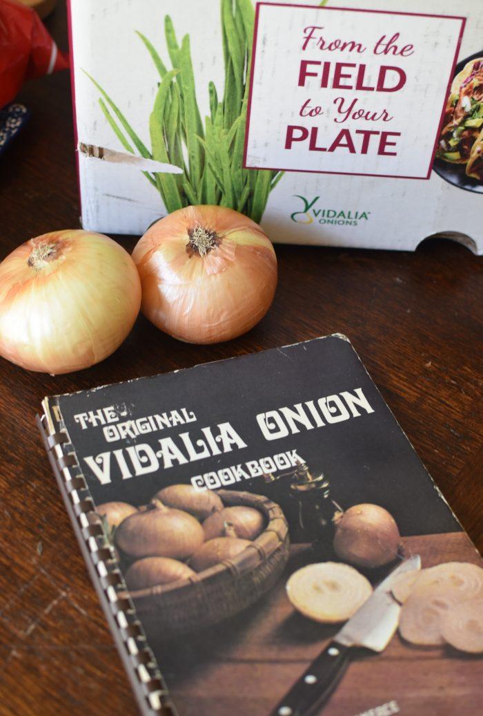 Vidalia onions and a Vidalia onion cookbook