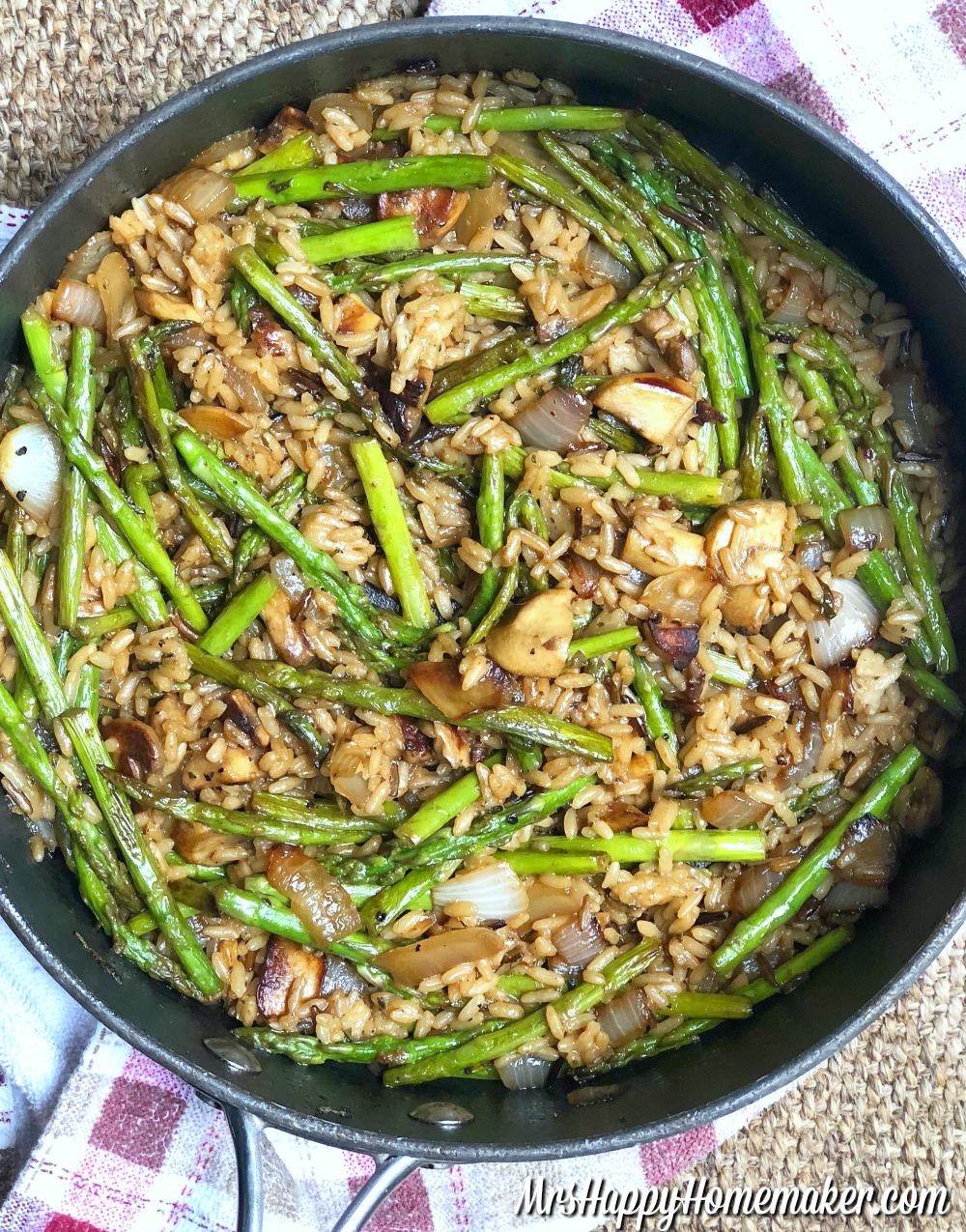 10 Minute Asparagus Rice Pilaf