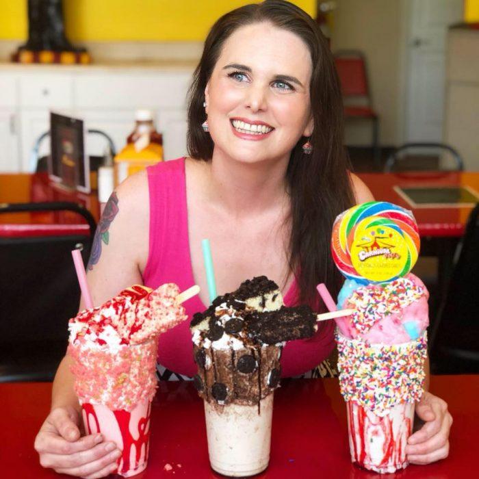 Crystal aka Mrs Happy Homemaker with 3 fun milkshakes