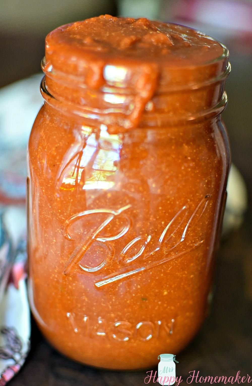 Homemade Taco Sauce in a mason jar