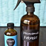 Homemade Febreze with only 2 ingredients! It smells so good & will refresh your whole house. Use as fabric refresher, air freshener, or household cleaner! | MrsHappyHomemaker.com @mrshappyhomemaker