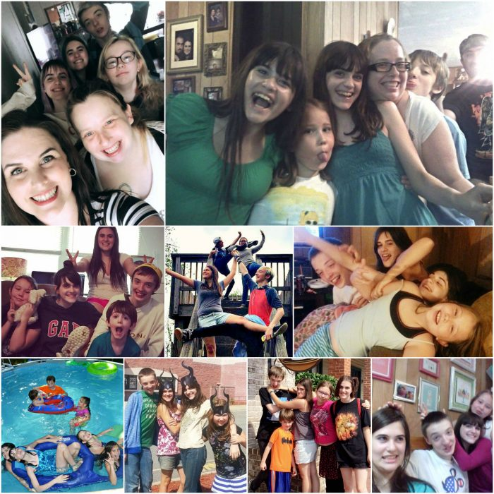 collage of Mrs Happy Homemaker and her kids and their friends