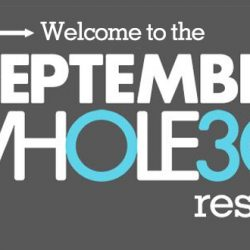 September whole30 reset