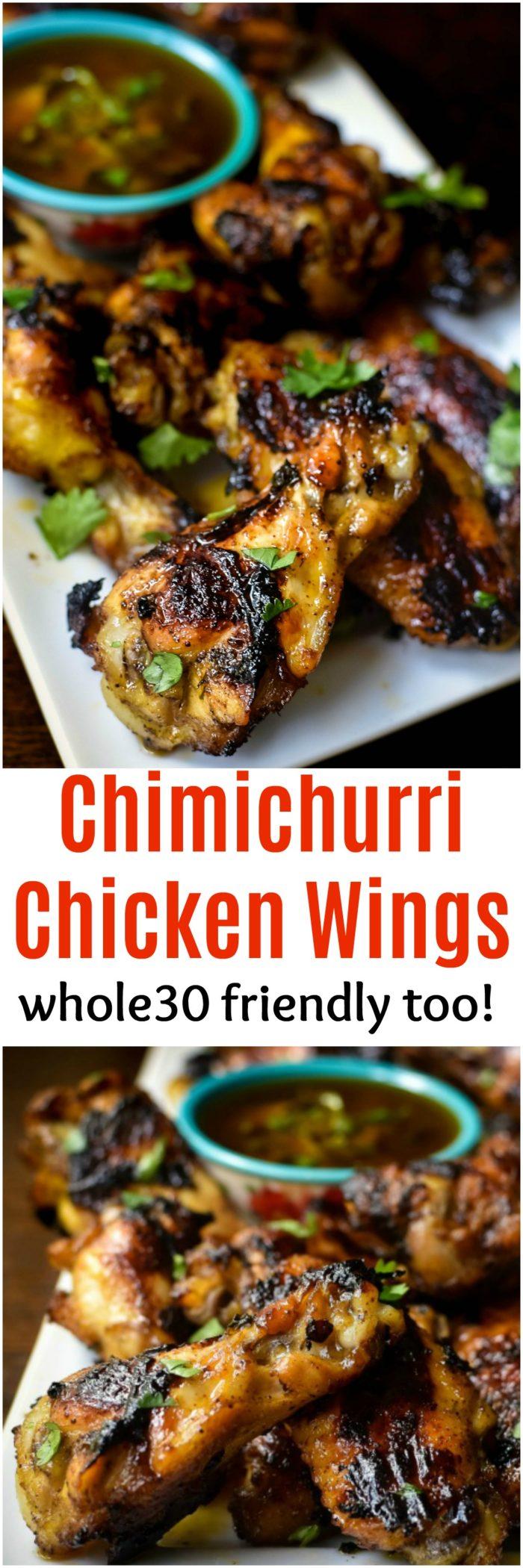 Chimichurri Chicken Wings - whole30 friendly too | MrsHappyHomemaker.com @MrsHappyHomemaker
