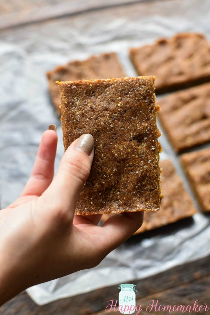 2 Ingredient Cashew Cookie Bars (CopyCat LaraBar)