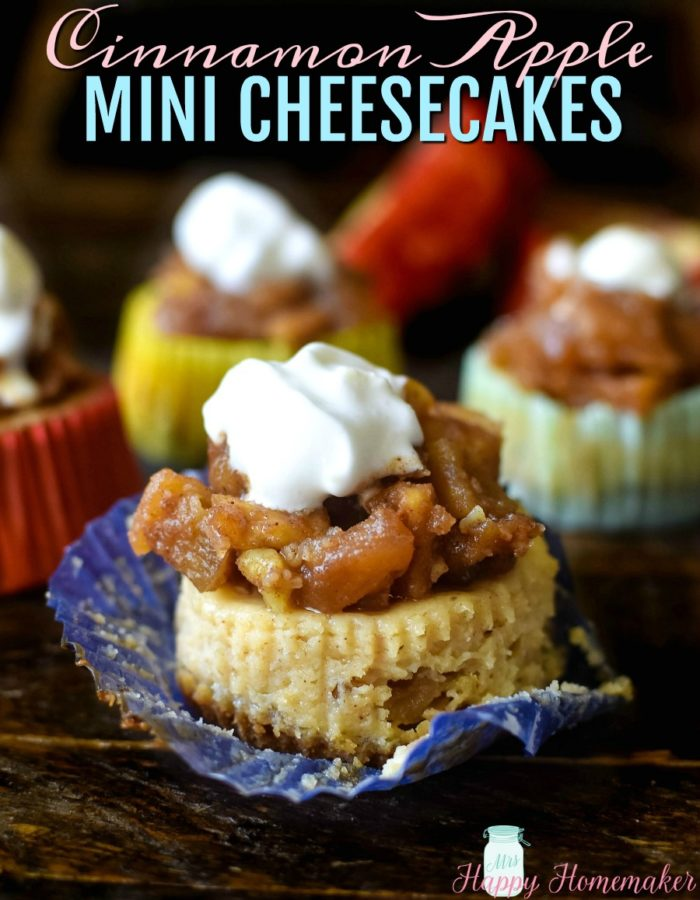 Apple Cinnamon Mini Cheesecakes