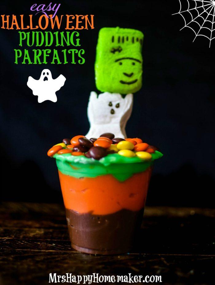 Easy Halloween Pudding Parfaits