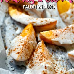 3 ingredient peaches and cream that area paleo and whole30 friendly