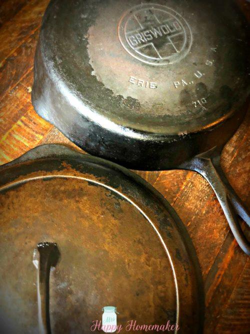 vintage Griswold cast iron skillet
