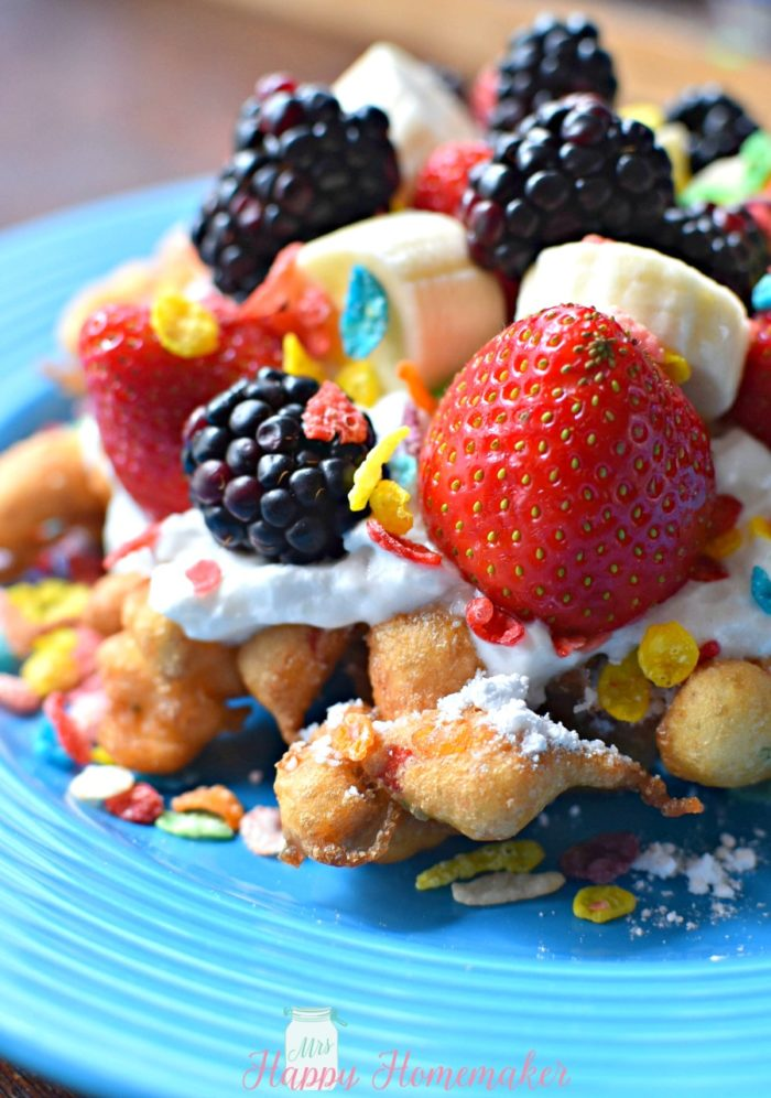 Fruity Pebbles Funnel Cake