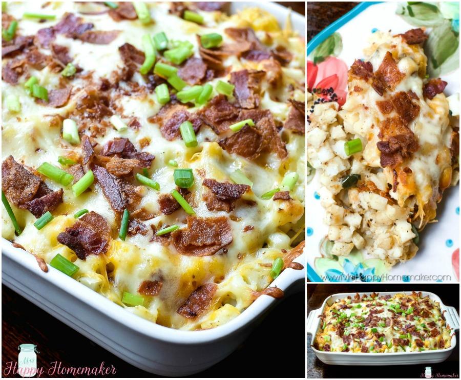 Cheesy Hash Brown Casserole collage