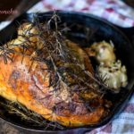 Roasted Garlic Rosemary Turkey Breast - this recipe is AMAZING | MrsHappyHomemaker.com @mrshappyhomemaker