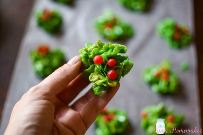 No Bake Holly Berry Clusters