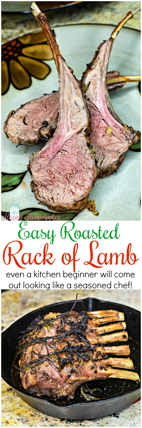 This Easy Roasted Rack of Lamb comes out perfect each & every time with very minimal effort. Even a kitchen beginner can come out looking like a seasoned chef with this simple recipe.
