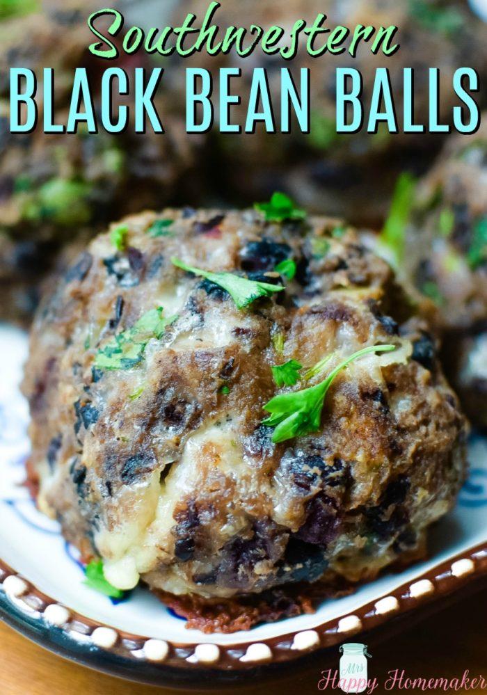 Southwestern Black Bean Balls