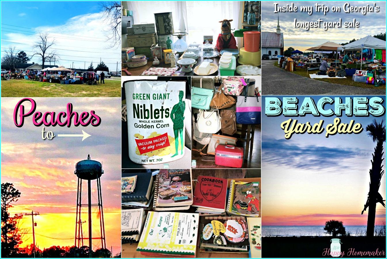 Georgia's Longest Yard Sale - Peaches to Beaches collage