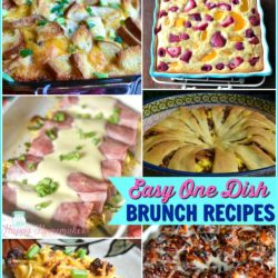 These easy, one dish breakfast recipes will make this year's Easter brunch the best one yet! | MrsHappyHomemaker.com @thathousewife #brunch #breakfast #brunchrecipe #breakfastrecipe #onedish