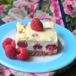 Lemon Raspberry Cheesecake Bars | MrsHappyHomemaker.com