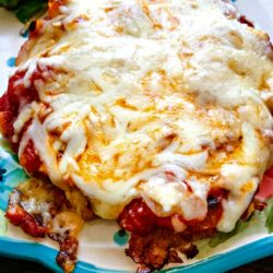 Chicken Patty Parmesan - quick and easy