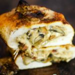 Stuffed Mushroom Spiraled Chicken recipe