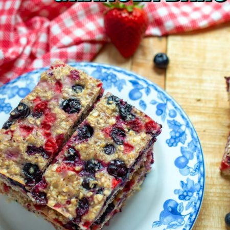 Berry Chia Granola Bars
