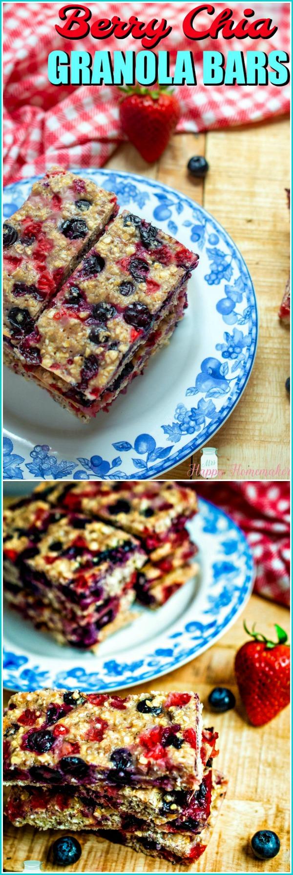 Berry Chia Seed Granola Bars