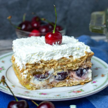 Cherry Vanilla Cheesecake Icebox Cake