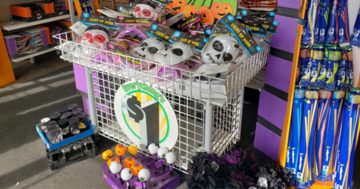 Dollar Tree light up mask display