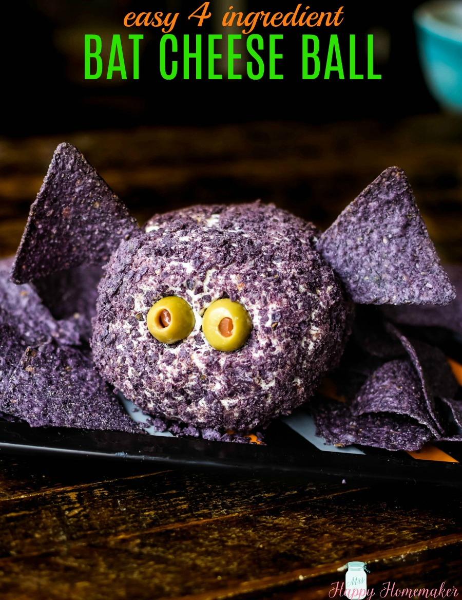 Bat Cheese Ball for Halloween