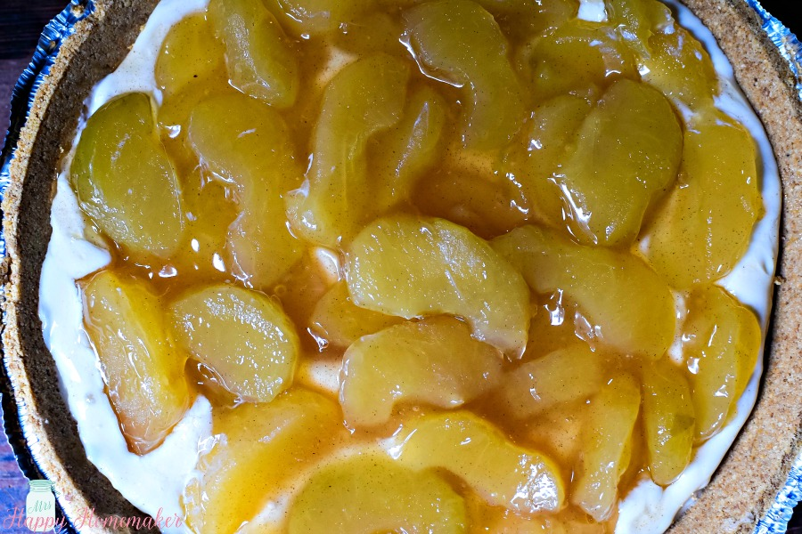 No Bake Apple Cream Pie