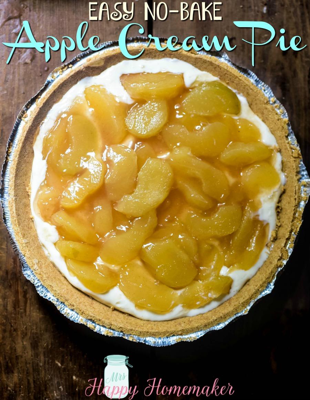 Easy No Bake Apple Cream Pie