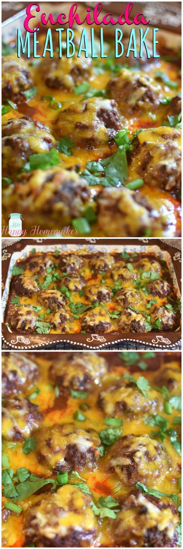 Enchilada Meatball Bake Casserole