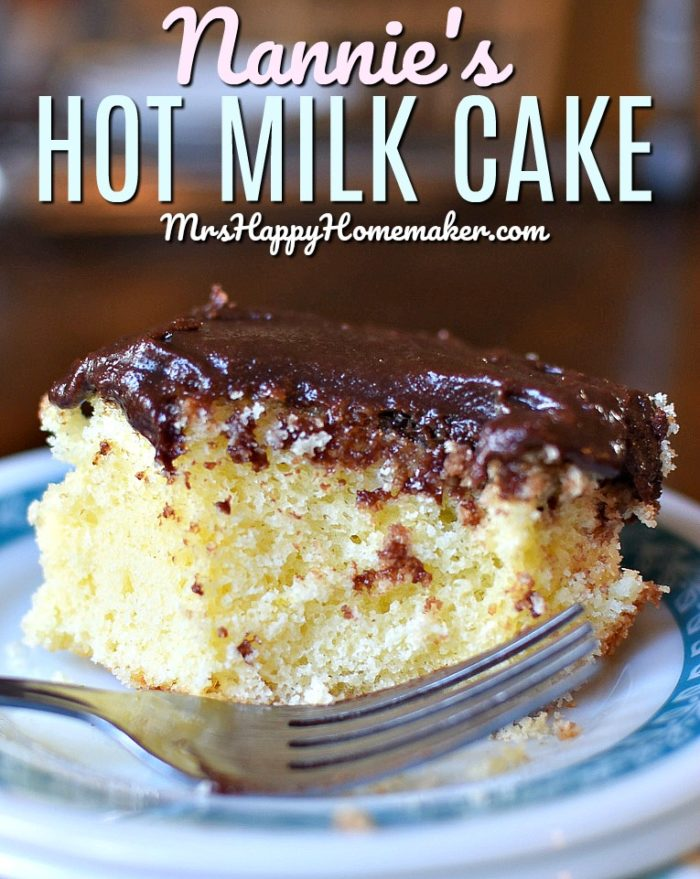 Nannie's Old Fashioned Hot Milk Cake