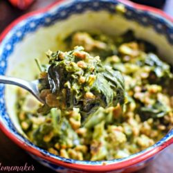 Spicy Sausage Creamed Collards