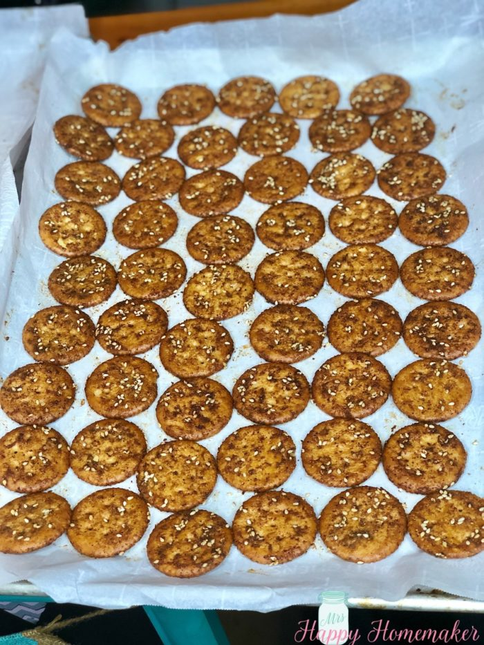 Baked Seasoned Ritz Crackers