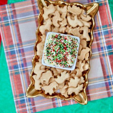 Easy 5 Ingredient Christmas Cake Batter Dip