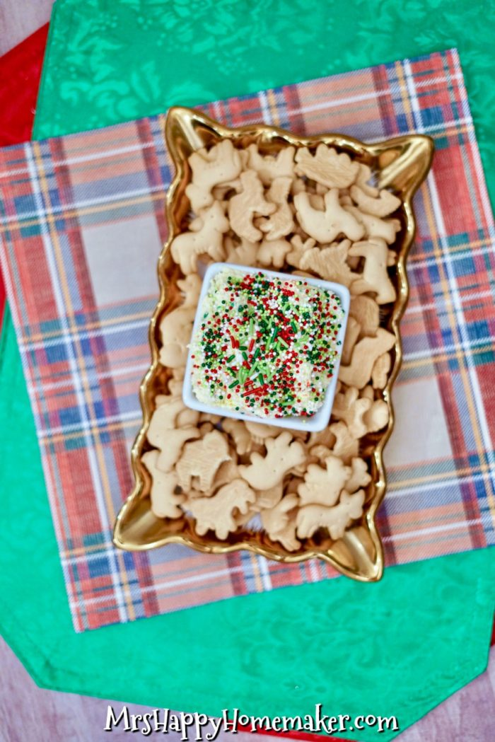 Easy 5 Ingredient Christmas Cake Batter Dip
