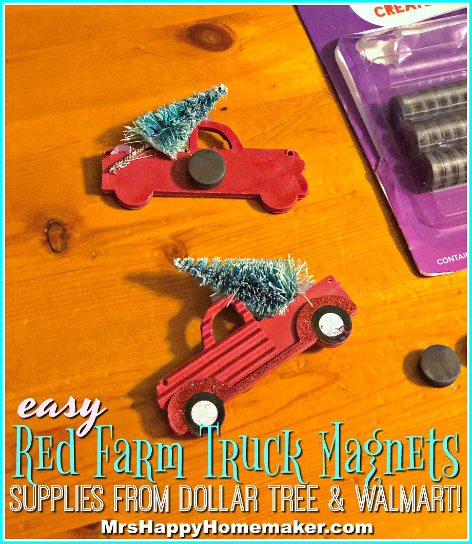 Red Farm Truck Magnets