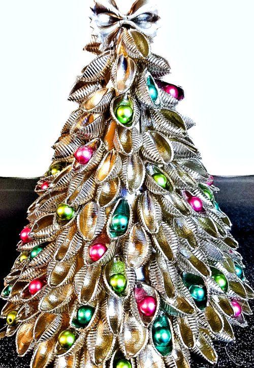 Easy Pasta Christmas Tree