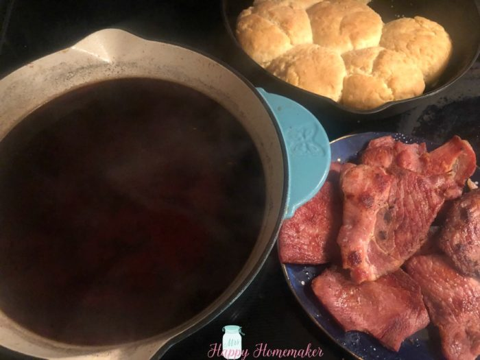 Redeye Gravy, Country Ham, and Buttermilk Biscuits